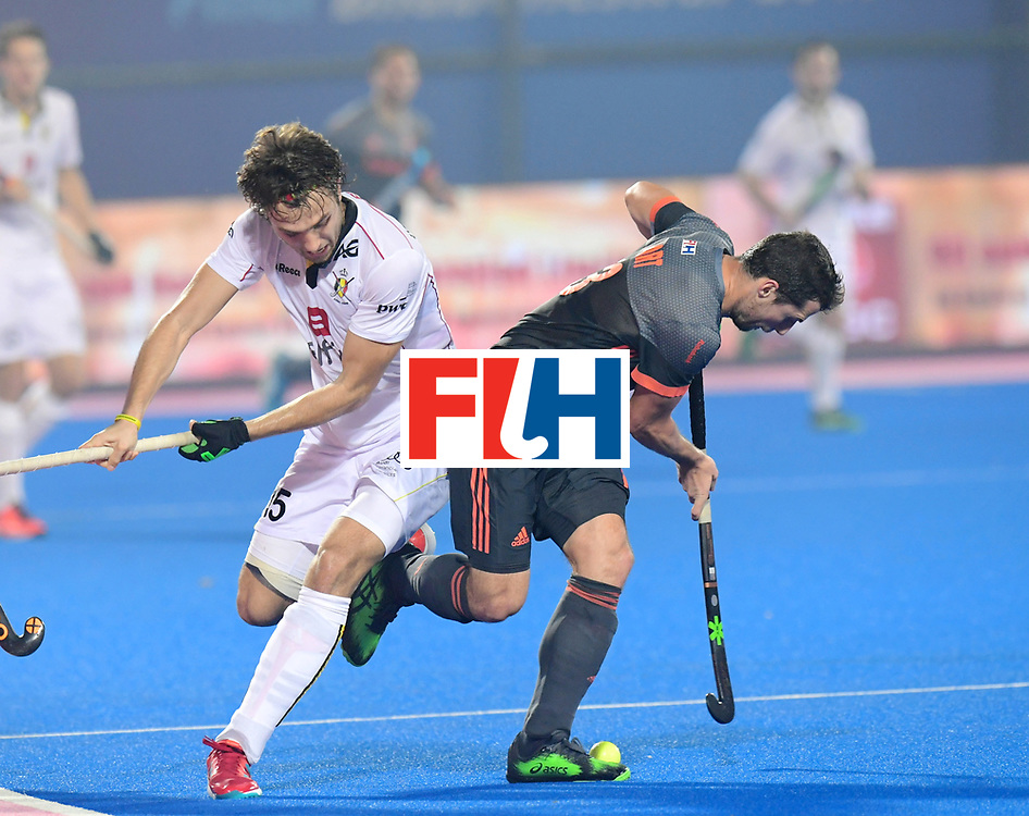 Odisha Men's Hockey World League Final Bhubaneswar 2017<br /> Match id:12<br /> Belgium v Netherlands<br /> Foto: Sander Baart (Ned) in dual with Manu Stockbroekx (Bel) <br /> COPYRIGHT WORLDSPORTPICS FRANK UIJLENBROEK