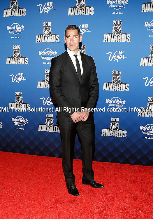 2016 June 22: Professional ice hockey left winger Pascal Dupuis poses for a photograph on the red carpet during the 2016 NHL Awards at the Hard Rock Hotel and Casino in Las Vegas, Nevada. (Photo by Marc Sanchez/Icon Sportswire)