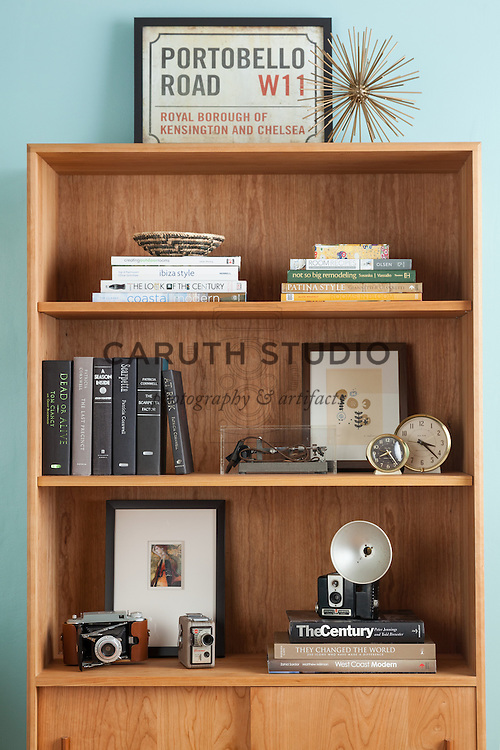 How to Style a Bookcase: Add accents