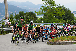 Sabrina Stultiens (NED) and Elisa Longo Borghini (ITA) lead up the climb above Baveno at Giro Rosa 2018 - Stage 5, a 122.6 km road race starting and finishing in Omegna, Italy on July 10, 2018. Photo by Sean Robinson/velofocus.com