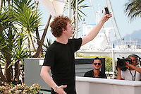 Norman Thavaud taking a selfie photo  Mon Roi film photo call at the 68th Cannes Film Festival Sunday May 17th 2015, Cannes, France.