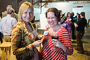 Ekaterina Rekhovskaya of Flagship (left) and Josephine Hanan of PHB pose for a portrait during the Silicon Valley Business Journal's HHaaS Tech Mixer at ZERO1 in San Jose, California, on May 28, 2015. (Stan Olszewski/SOSKIphoto for the Silicon Valley Business Journal)