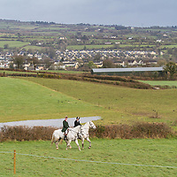 Members of the East Clare Harriers lead out the riders during the 2015 Killaloe point to point