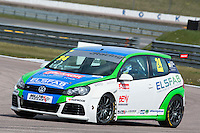#24 Simon  RUDD  Team Hard  Volkswagen Golf Milltek Sport Volkswagen Racing Cup at Rockingham, Corby, Northamptonshire, United Kingdom. April 30 2016. World Copyright Peter Taylor/PSP.