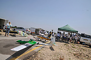 Radio controlled model aircraft demonstration at the IAF Air Show, Haifa, Israel