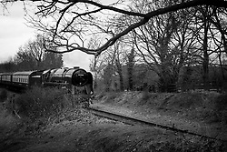 Steam train on the Great Central Railway, Rothley, Leicestershire, England.<br /> Photo: Ed Maynard<br /> 07976 239803<br /> www.edmaynard.com