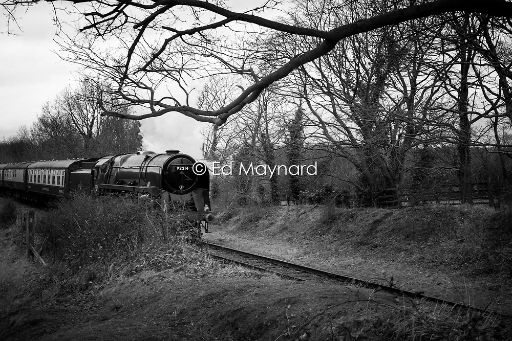 Steam train on the Great Central Railway, Rothley, Leicestershire, England.<br /> Photo: Ed Maynard<br /> 07976 239803<br /> www.edmaynard.com