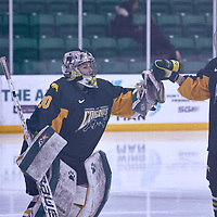 2nd year defender, Emily Middagh (6) of the Regina Cougars during the Women's Hockey Away Game on Fri Jan 11 at Merlis Belsher Place. Credit: Arthur Ward/Arthur Images
