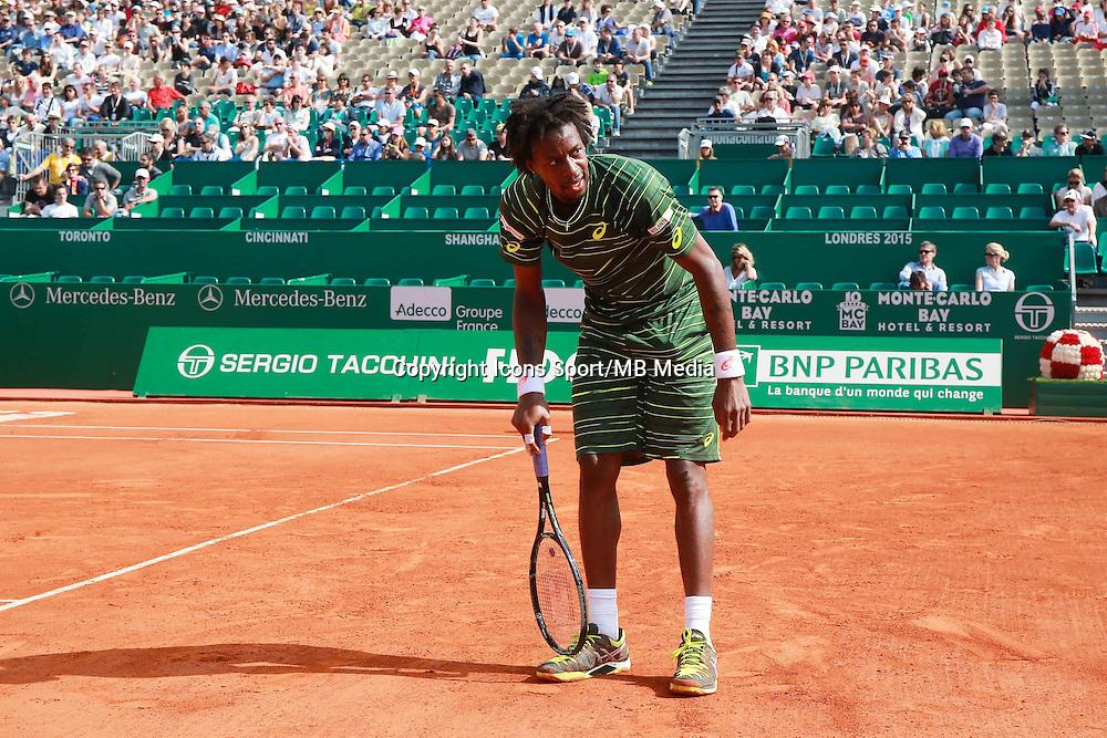 Gael Monfils - 14.04.2015 - Tournoi de Monte Carlo - Masters 1000 -<br />Photo : Serge Haouzi / Icon Sport