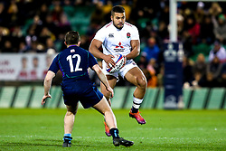 Ollie Lawrence of England U20 takes on Robbie McCallum of Scotland U20 - Mandatory by-line: Robbie Stephenson/JMP - 15/03/2019 - RUGBY - Franklin's Gardens - Northampton, England - England U20 v Scotland U20 - Six Nations U20