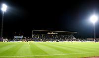 Fotball , 24. september 2014 , NM-semifinale herrer , Stabæk - Molde 0-1<br /> illustrasjon , et fullsatt Nadderud Stadion , tribune , flomlys
