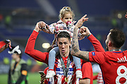 Fernando Torres of Atletico Madrid celebrates during the Europa League Final match between Olympique de Marseille and Atletico Madrid at Orange Velodrome, Marseille, France on 16 May 2018. Picture by Ahmad Morra.