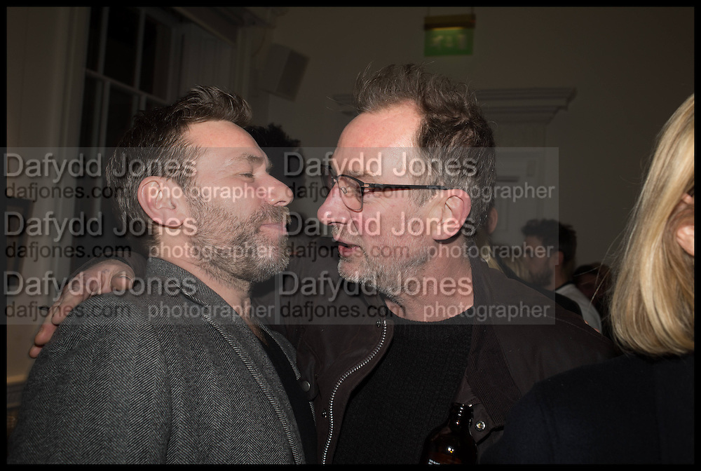 MAT COLLISHAW; GARY HUME, Private view, Paul Simonon- Wot no Bike, ICA Nash and Brandon Rooms, London. 20 January 2015