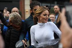 Spice Girls Geri Horner leaving Global Radio studios in Leicester Square, London.
