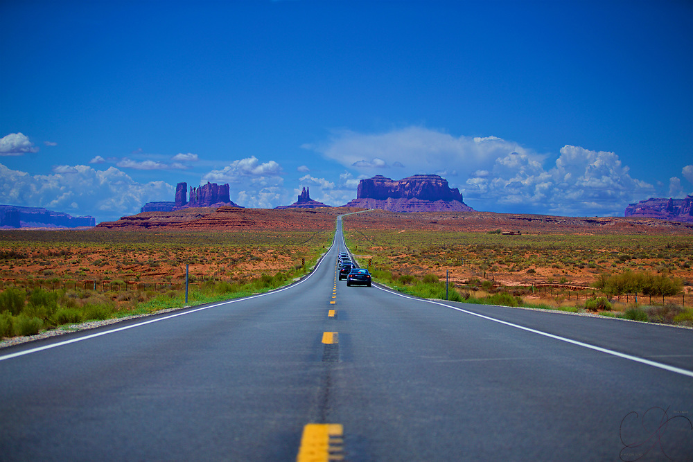 One of the most epic highways in the Southwest - US 163 heading into Monument Valley