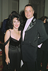 Actress LESLEY JOSEPH and MR JONATHAN ALTARAS at a reception in London on 22nd September 1997.MBK 14