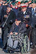 Veterans from the Navy and the Royal Marines march past the Cenothaph and down Whitehall - Remembrance Sunday and Armistice Day commemorations fall on the same day, remembering the fallen of all conflicts but particularly the centenary of the end of World War One.