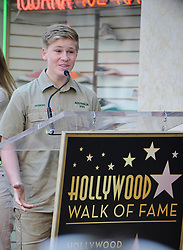 Terri Irwin, Bindi Irwin, Robert Irwin at the ceremony honoring Steve Irwin with star on The Hollywood Walk of Fame on April 26, 2018 in Los Angeles. BIndi became emotional talking about her father and how happy she was about the star. 25 Apr 2018 Pictured: Terri Irwin, Bindi Irwin, Robert Irwin at the ceremony honoring Steve Irwin with star on The Hollywood Walk of Fame on April 26, 2018 in Los Angeles. BIndi became emotional talking about her father and how happy she was about the star. Photo credit: MEGA TheMegaAgency.com +1 888 505 6342