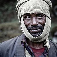 Indigenous man in Rira, Bale Mountains National Park