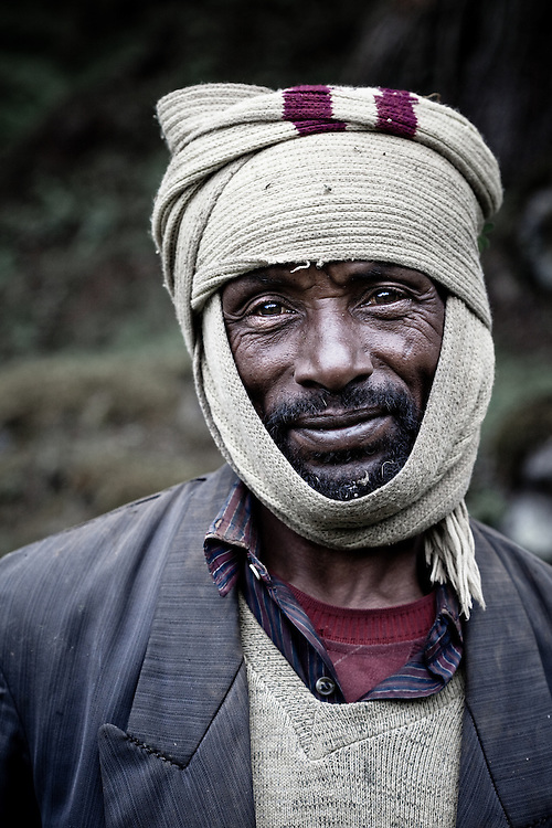 Indigenous man in Rira, Bale Mountains National Park
