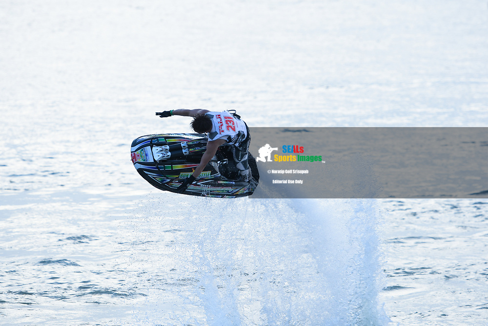 PATTAYA, THAILAND - DECEMBER 09: Taiji Yamamoto of Japan and Bun Freestyle in action during the Pro Freestyle at the Thai Airways International Jet Ski World Cup 2018, Jomtien Beach, Pattaya, Thailand on December 09, 2018. <br /> .<br /> .<br /> .<br /> (Photo by: Naratip Golf Srisupab/SEALs Sports Images)<br /> .<br /> Any image use must include a mandatory credit line adjacent to the content which should read: Naratip Golf Srisupab/SEALs Sports Images