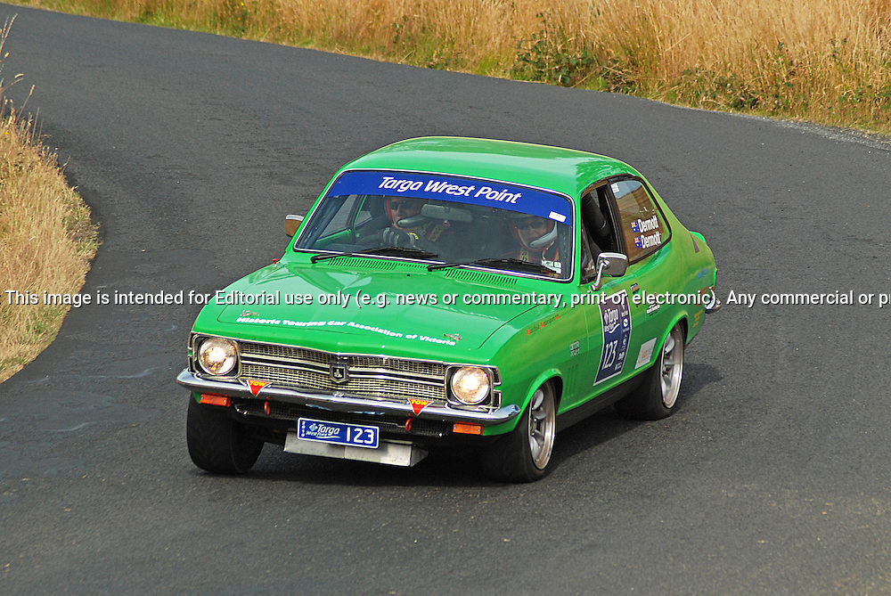 123 Brian Dermott & Linda Dermott .1971 Holden Torana XU1.Day 2.Targa Wrest Point 2010.Southern Tasmania.31st of January 2010.(C) Sarah Biggin.Use information: This image is intended for Editorial use only (e.g. news or commentary, print or electronic). Any commercial or promotional use requires additional clearance.