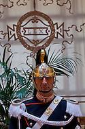 Roma 23 Gennaio 2015 <br /> Inaugurazione dell'Anno Giudiziario 2015  presso la Suprema Corte di Cassazione.<br /> Corazziere<br /> Rome January 23, 2015<br /> Inauguration of the Judicial Year 2015 at the Supreme Court of Cassation.<br /> Corazziere