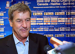 Bobby Orr of Canada?s 1976 Canada Cup team, that players are in Hockey Hall of Fame,at IIHF WC 2008 in Halifax, on May 06, 2008 in Metro Center, Halifax, Nova Scotia, Canada. Germany won 4:2. (Photo by Vid Ponikvar / Sportal Images)