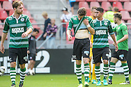 25-09-2016: Voetbal: FC Utrecht v Sparta Rotterdam: Utrecht<br /> <br /> (L-R) Teleurstelling bij Sparta na afloop van het Eredivsie duel tussen FC Utrecht en Sparta in stadion Galgenwaard te Utrecht op 25 september tijdens speelronde 7<br /> <br /> Eredivisie - Seizoen 2016 / 2017<br /> <br /> <br /> Foto: Gertjan Kooij