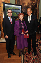 A party to promote the exclusive Puntacana Resort & Club - the Caribbean's Premier Golf & Beach Resort Destination, was held at Spencer House, London on 13th May 2010.<br /> <br /> Picture shows:- Left to right, PAVLOS HORNE, CHRYSANTHY LEMOS and OSCAR DE LA RENTA