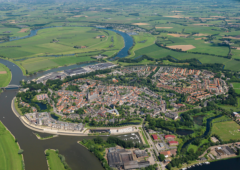 Binnenstad Doesburg aan de Oude en Gelderse IJssel