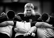 Dragons' Richard Hibbard during the pre match warm up<br /> <br /> Photographer Simon King/Replay Images<br /> <br /> Guinness PRO14 Round 1 - Dragons v Benetton Treviso - Saturday 1st September 2018 - Rodney Parade - Newport<br /> <br /> World Copyright &copy; Replay Images . All rights reserved. info@replayimages.co.uk - http://replayimages.co.uk
