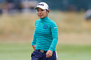 Mamiko Higa after finishing her round during the Ricoh Women's British Open golf tournament at Royal Lytham and St Annes Golf Club, Lytham Saint Annes, United Kingdom on 3 August 2018. Picture by Simon Davies.