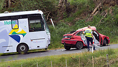 Tauranga-One dead after collision between against  car and library bus
