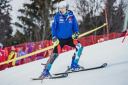 """29.01.2019, Planai, Schladming, AUT, FIS Weltcup Ski Alpin, Slalom, Herren, Streckenbesichtigung, im Bild Victor Muffat-Jeandet (FRA) // Victor Muffat-Jeandet of France during course inspection for the men's Slalom """"the Nightrace"""" of FIS ski alpine world cup at the Planai in Schladming, Austria on 2019/01/29. EXPA Pictures © 2019, PhotoCredit: EXPA/ Dominik Angerer"""