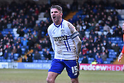 Bury Forward, Ryan Lowe is not happy during the Sky Bet League 1 match between Bury and Bradford City at the JD Stadium, Bury, England on 5 March 2016. Photo by Mark Pollitt.