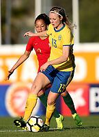 International Women's Friendly Matchs 2019 / <br /> Womens's Algarve Cup Tournament 2019 - <br /> Portugal v Sweden 2-1 ( Municipal Stadium - Albufeira,Portugal ) - <br /> Amanda Ilestedt of Sweden