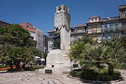 War memorial for soldiers killed in WW1, Praca Carlos Alberto, Porto, Portugal.