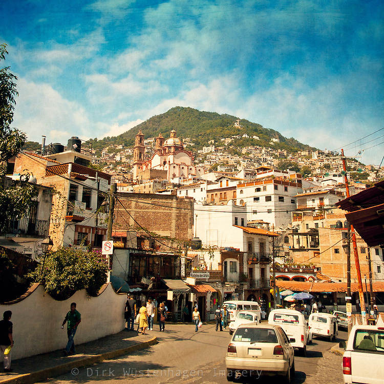 Street scene Taxco, Guerrero, Mexico.