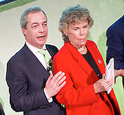 Grassroots Out Public Rally Campaign event at Queen Elizabeth Conference Centre, London, Great Britain <br /> 19th February 2016 <br /> <br /> Nigel Farage<br /> Kate Hoey <br /> <br /> <br /> Photograph by Elliott Franks <br /> Image licensed to Elliott Franks Photography Services