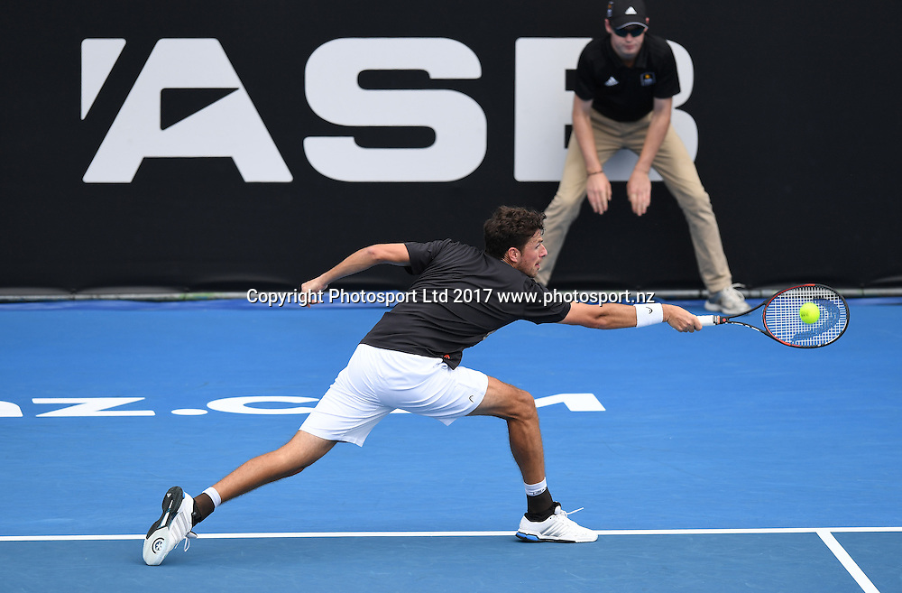 Dutch player Robin Haase during his first round singles match at the ASB Classic. ATP Mens Tennis Tournament. ASB Tennis Centre, Auckland, New Zealand. Monday 9 January 2017. © Copyright photo: Andrew Cornaga / www.photosport.nz