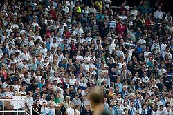 Fans of team Rijeka (Armada) during football match between HNK Rijeka and HNK Hajduk Split in 11th Round of Prva Hrvaska Nogometna Liga MaxTV 2013/14 on September 28, 2013 in Stadion Kantrida, Rijeka, Croatia. (Photo By Urban Urbanc / Sportida.com)