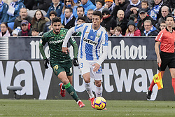 February 10, 2019 - Madrid, Madrid, Spain - CD Leganes's Mikel Vesga and Real Betis Balompie's Antonio Barragan during La Liga match between CD Leganes and Real Betis Balompie at Butarque Stadium in Madrid, Spain. February 10, 2019. (Credit Image: © A. Ware/NurPhoto via ZUMA Press)
