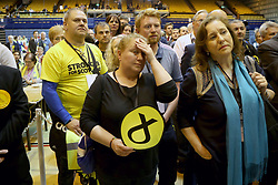 SNP supporters at Meadowbank Sports Centre in Edinburgh, as counting is under way for the General Election.