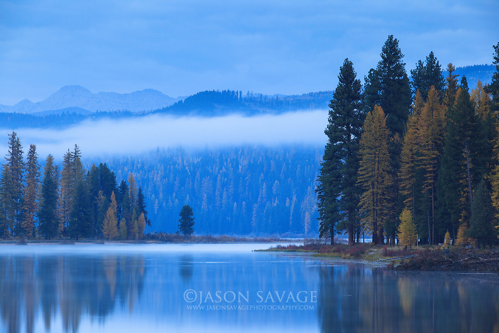 Early morning on Seeley Lake, Montana.