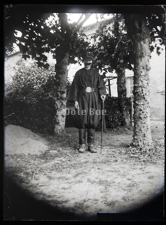 dressed up as an elderly man France 1923