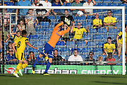 Will Huffer (13) of Leeds United makes a save during the Pre-Season Friendly match between Oxford United and Leeds United at the Kassam Stadium, Oxford, England on 24 July 2018. Picture by Graham Hunt.