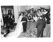Donald Trump and marla maples on their wedding day© Copyright Photograph by Dafydd Jones 66 Stockwell Park Rd. London SW9 0DA Tel 020 7733 0108 www.dafjones.com
