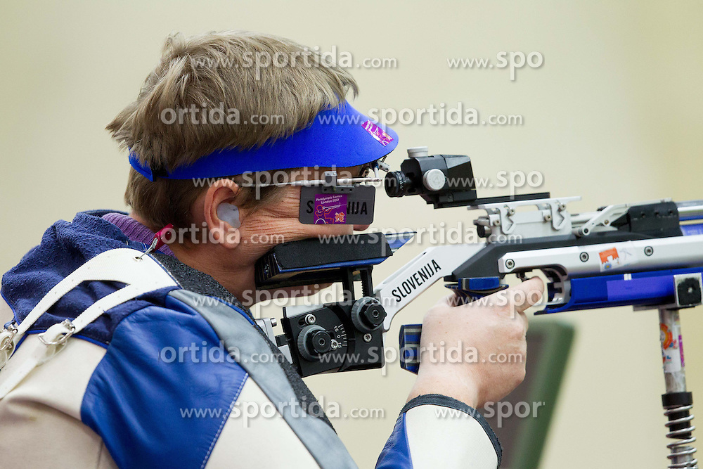 Damjan Pavlin of Slovenia competes in the Men's R4-10m Air Rifle Standing shooting Qualifications during Day 5 of the Summer Paralympic Games London 2012 on September 2, 2012, in Royal Artillery Barracks, London, Great Britain. (Photo by Vid Ponikvar / Sportida.com)