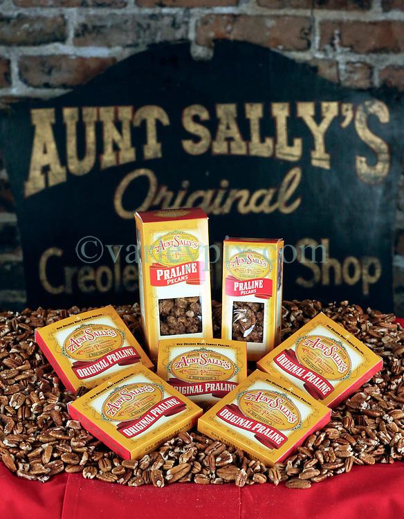21 September 2015. New Orleans, Louisiana.<br /> Aunt Sally's Pralines.<br /> Photo©; Charlie Varley/varleypix.com